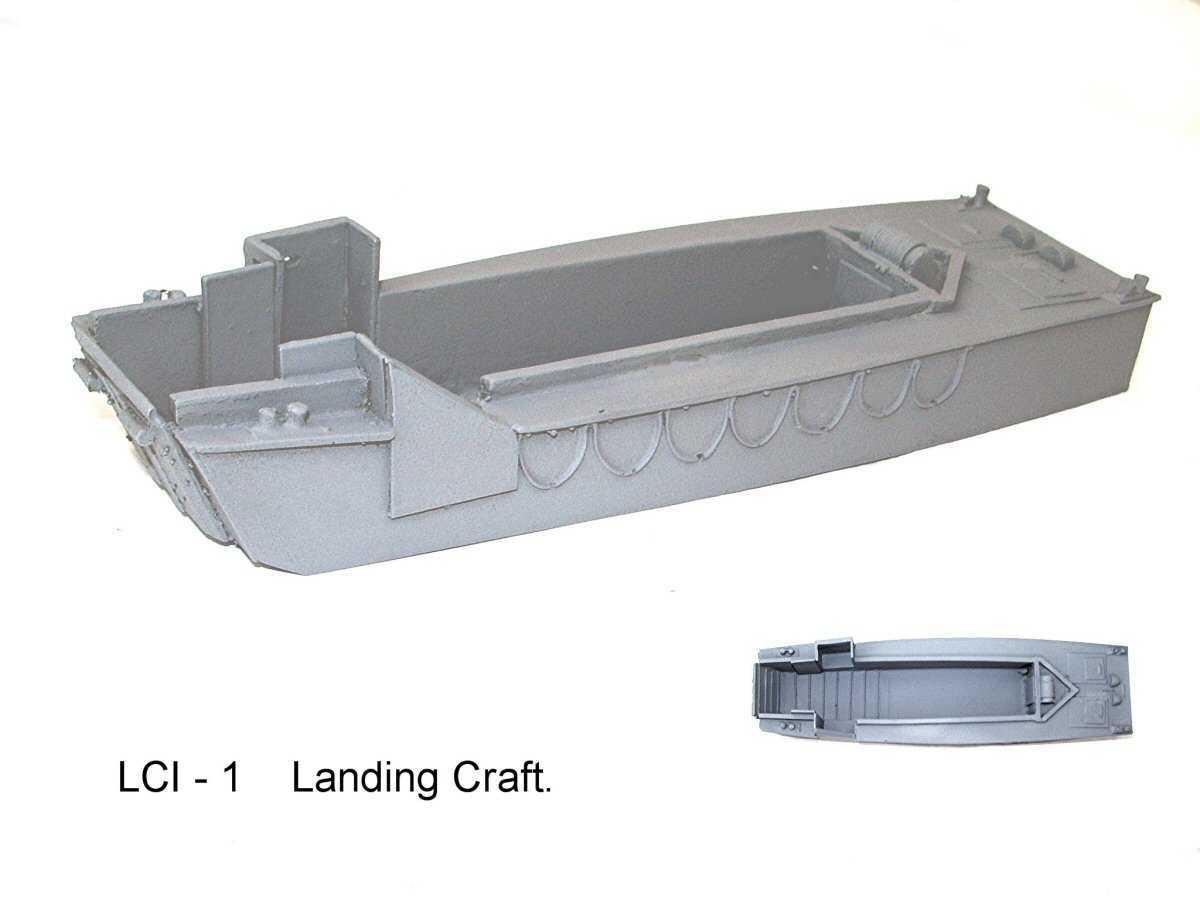 World War Two Lci1 Landing Craft | Table Warfare Miniatures