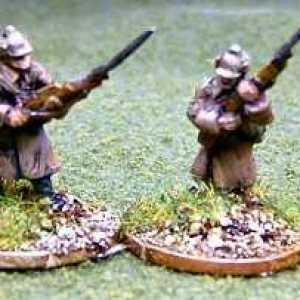 Russian Army Riflemen Advancing