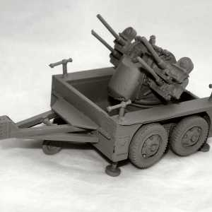 M51 Multiple Machine Gun Carriage, with M45 Quadmount Gun and M17 Trailer