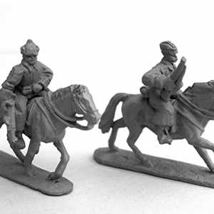 Russian Cavalry Two Riflemen, including Horses