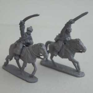 Russian Cavalry Two Swordsmen, including Horses