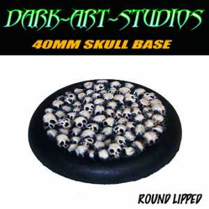 40mm Sculpted Skull Base