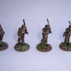 Four British Infantry Marching